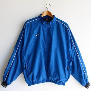 Vintage Nike Blue Zip-Up Windbreaker Jacket